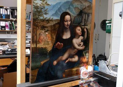 YARNWINDER: Investigating the making of the Virgin of the Yarnwinder by Leonardo da Vinci