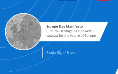"""Europe Day Manifesto """"Cultural Heritage: a powerful catalyst for the future of Europe"""